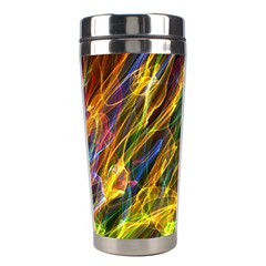 Abstract Smoke Stainless Steel Travel Tumbler