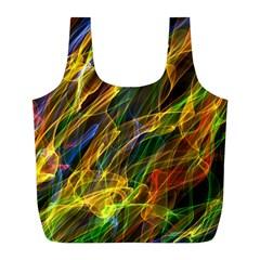 Abstract Smoke Reusable Bag (L)