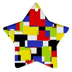 Mod Geometric Star Ornament