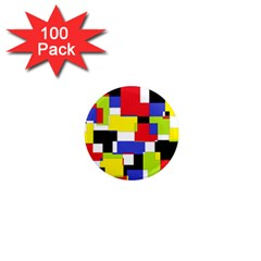 Mod Geometric 1  Mini Button Magnet (100 pack)