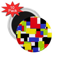 Mod Geometric 2 25  Button Magnet (10 Pack)
