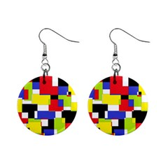 Mod Geometric Mini Button Earrings