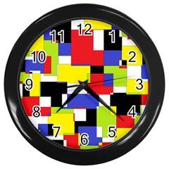 Mod Geometric Wall Clock (black)