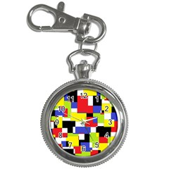 Mod Geometric Key Chain Watch