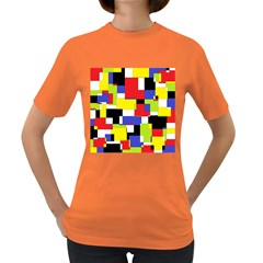 Mod Geometric Women s T-shirt (Colored)