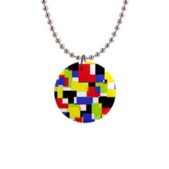Mod Geometric Button Necklace