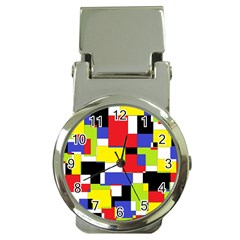Mod Geometric Money Clip with Watch