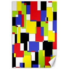 Mod Geometric Canvas 24  X 36  (unframed)