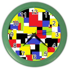 Mod Geometric Wall Clock (Color)