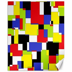 Mod Geometric Canvas 11  x 14  (Unframed)