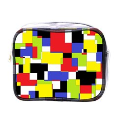 Mod Geometric Mini Travel Toiletry Bag (one Side)
