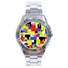 Mod Geometric Stainless Steel Watch