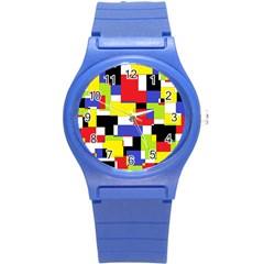 Mod Geometric Plastic Sport Watch (Small)