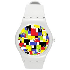Mod Geometric Plastic Sport Watch (Medium)