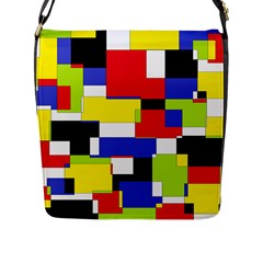 Mod Geometric Flap Closure Messenger Bag (Large)