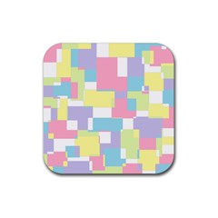 Mod Pastel Geometric Drink Coasters 4 Pack (Square)