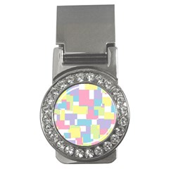 Mod Pastel Geometric Money Clip (CZ)
