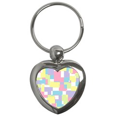 Mod Pastel Geometric Key Chain (Heart)
