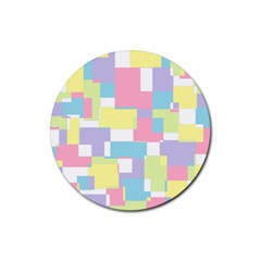 Mod Pastel Geometric Drink Coasters 4 Pack (Round)