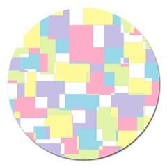 Mod Pastel Geometric Magnet 5  (round)