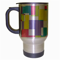 Mod Pastel Geometric Travel Mug (Silver Gray)