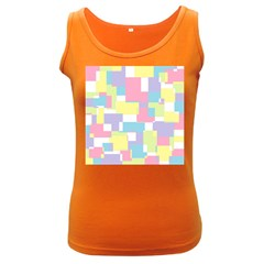 Mod Pastel Geometric Women s Tank Top (dark Colored)