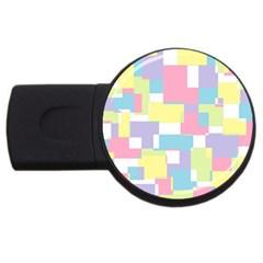 Mod Pastel Geometric 4GB USB Flash Drive (Round)