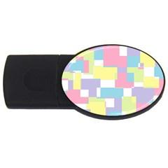 Mod Pastel Geometric 4GB USB Flash Drive (Oval)