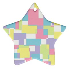 Mod Pastel Geometric Star Ornament (Two Sides)