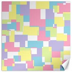 Mod Pastel Geometric Canvas 12  X 12  (unframed)