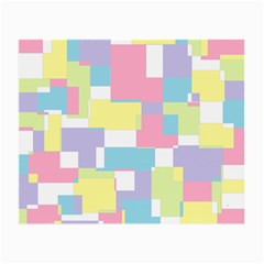 Mod Pastel Geometric Glasses Cloth (small, Two Sided)