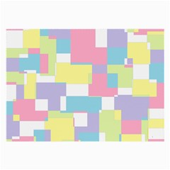 Mod Pastel Geometric Glasses Cloth (Large, Two Sided)