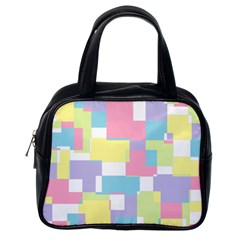 Mod Pastel Geometric Classic Handbag (One Side)