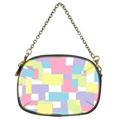 Mod Pastel Geometric Chain Purse (Two Sided)