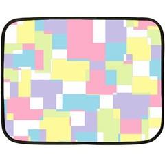 Mod Pastel Geometric Mini Fleece Blanket (Two Sided)