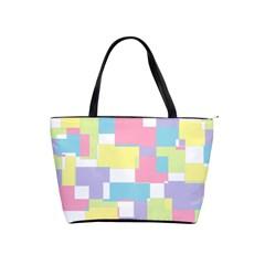 Mod Pastel Geometric Large Shoulder Bag