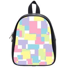 Mod Pastel Geometric School Bag (small)