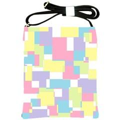 Mod Pastel Geometric Shoulder Sling Bag