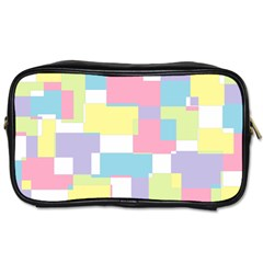 Mod Pastel Geometric Travel Toiletry Bag (Two Sides)