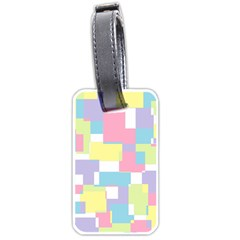 Mod Pastel Geometric Luggage Tag (One Side)