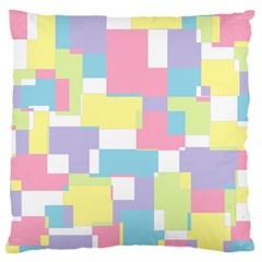 Mod Pastel Geometric Large Cushion Case (Two Sided)