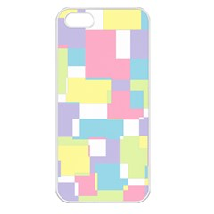 Mod Pastel Geometric Apple Iphone 5 Seamless Case (white)