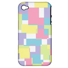Mod Pastel Geometric Apple Iphone 4/4s Hardshell Case (pc+silicone)