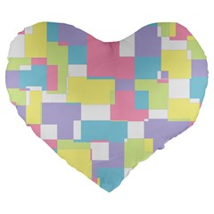 Mod Pastel Geometric 19  Premium Heart Shape Cushion