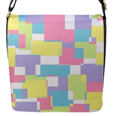 Mod Pastel Geometric Flap Closure Messenger Bag (Small)