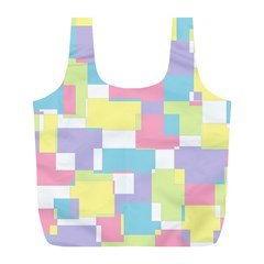 Mod Pastel Geometric Reusable Bag (L)