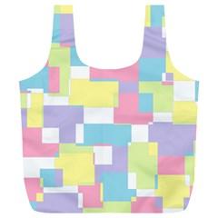 Mod Pastel Geometric Reusable Bag (XL)