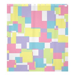 Mod Pastel Geometric Shower Curtain 66  X 72  (large)