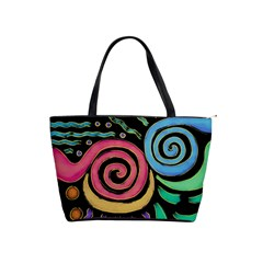 Funky Abstract Painting On Large Handbag