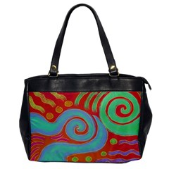 Abstract Digital Painting On Leather Like Shoulder Bag
